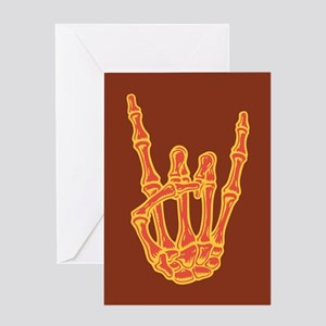 Bony Rock Hand Color Greeting Card