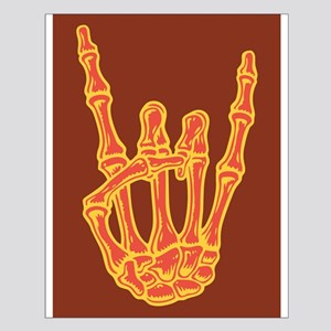 Bony Rock Hand Color Small Poster