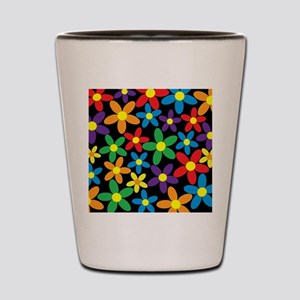 Flowers Colorful Shot Glass