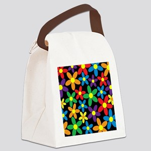 Flowers Colorful Canvas Lunch Bag