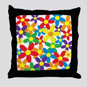 Flowers Colorful Throw Pillow