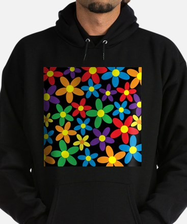 Flowers Colorful Hoodie (dark)