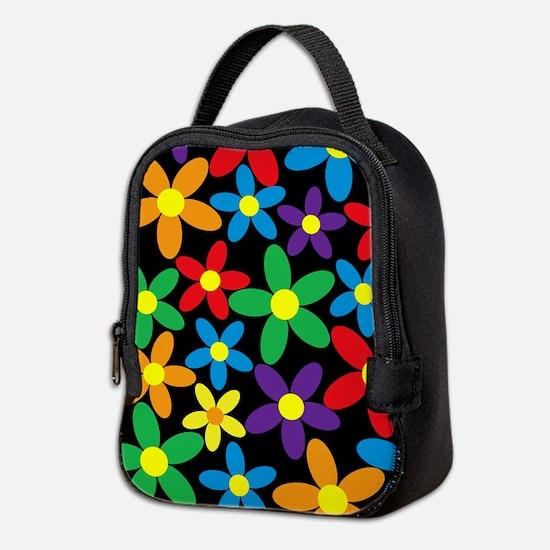 Flowers Colorful Neoprene Lunch Bag