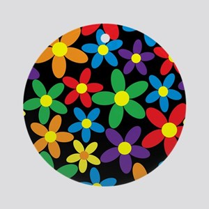 Flowers Colorful Ornament (Round)
