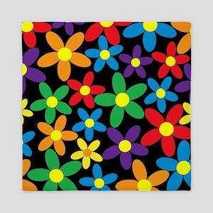Flowers Colorful Queen Duvet