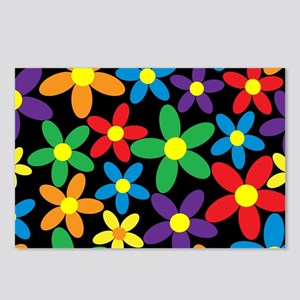 Flowers Colorful Postcards (Package of 8)