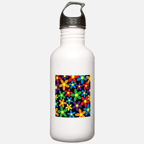 Flowers Colorful Water Bottle