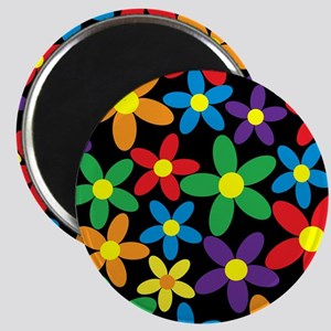 Flowers Colorful Magnets