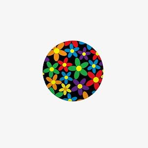 Flowers Colorful Mini Button