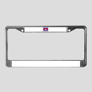 Cambodia License Plate Frame