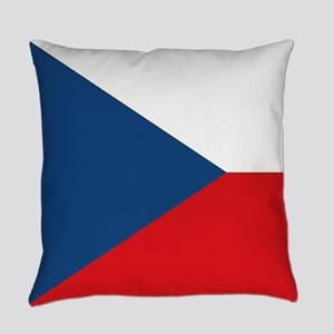 Czech Republic Flag Everyday Pillow