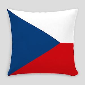 Czech Republic Flag Everyday Pillow