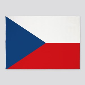 Czech Republic Flag 5'x7'area Rug