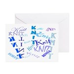 Knit Blue Light Greeting Cards (Pk of 20)