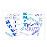 Knit Blue Light Postcards (Package of 8)