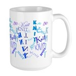 Knit Blue Light Large Mug