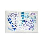 Knit Blue Light Rectangle Magnet (100 pack)