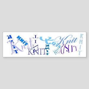 Knit Blue Light Bumper Sticker