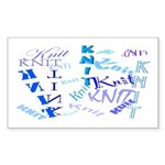 Knit Blue Light Rectangle Sticker