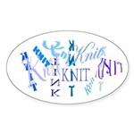 Knit Blue Light Oval Sticker