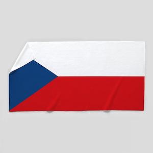 Czech Republic Flag Beach Towel