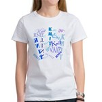 Knit Blue Light Women's T-Shirt