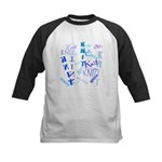 Knit Blue Light Kids Baseball Jersey