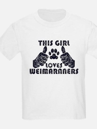 This Girl Loves Weimaraners T-Shirt