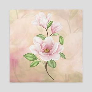 Magnolia Flower Blossom Queen Duvet