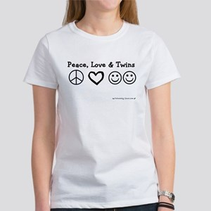 Peace, Love & Twins Women's T-Shirt