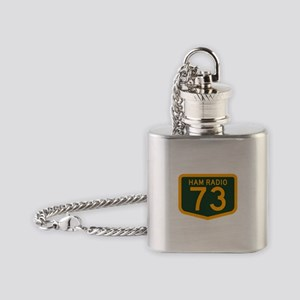 VK 73 Green+Gold Flask Necklace
