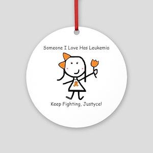 Leukemia - Justyce Ornament (Round)