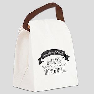 MSG is Wonderful Canvas Lunch Bag
