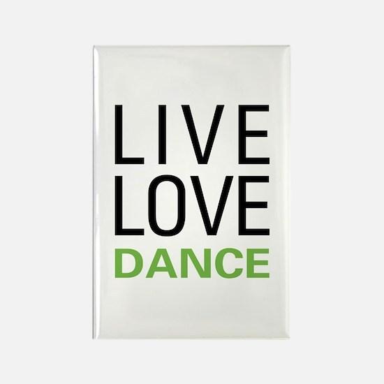 Live Love Dance Rectangle Magnet (10 pack)