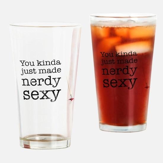 Nerdy sexy Drinking Glass