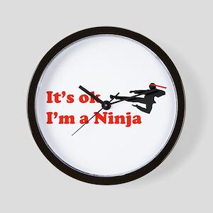 It's OK I'm a Ninja Wall Clock