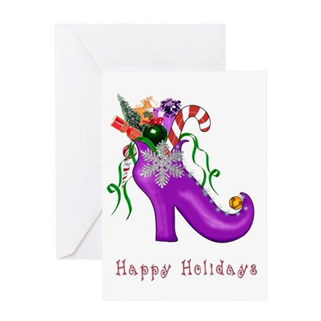 Christmas Shoe Greeting Card
