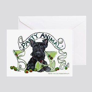 Scottish Terrier Martinis Greeting Card