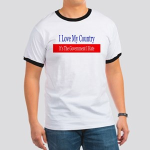 Love My Country Hate The Government T-Shirt