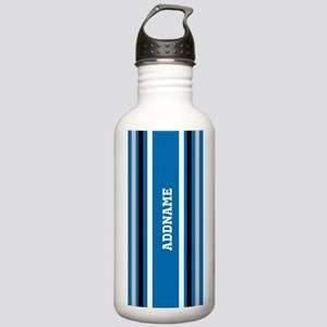 Blue Black White Jerse Stainless Water Bottle 1.0L