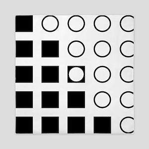 Squares Circles black and white Queen Duvet