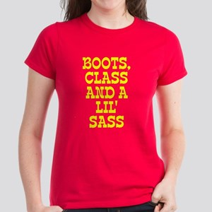 Boots class and lil sass Women's Dark T-Shirt