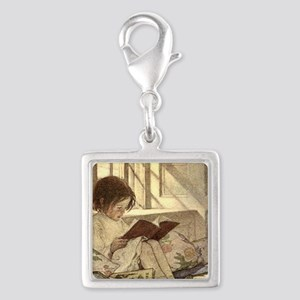 Vintage Books in Winter, Child Reading Charms