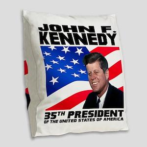 35 Kennedy Burlap Throw Pillow