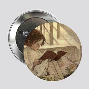 "Vintage Books in Winter, C 2.25"" Button (100 pack)"