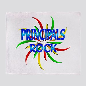 Principals Rock Throw Blanket