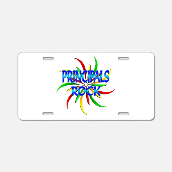 Principals Rock Aluminum License Plate