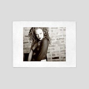 Sepia Toned Artistic Nude 5'x7'Area Rug