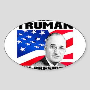 33 Truman Sticker (Oval)