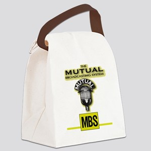 THE MUTUAL BROADCASTING SYSTEM.   Canvas Lunch Bag